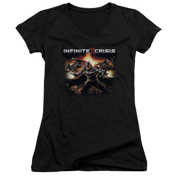 Infinite Crisis Batmen Junior V Neck T-Shirt