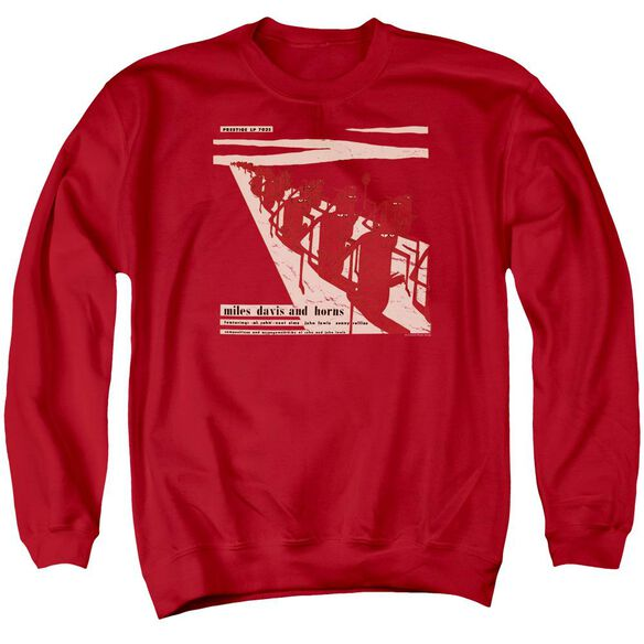 Miles Davis Davis And Horn Adult Crewneck Sweatshirt
