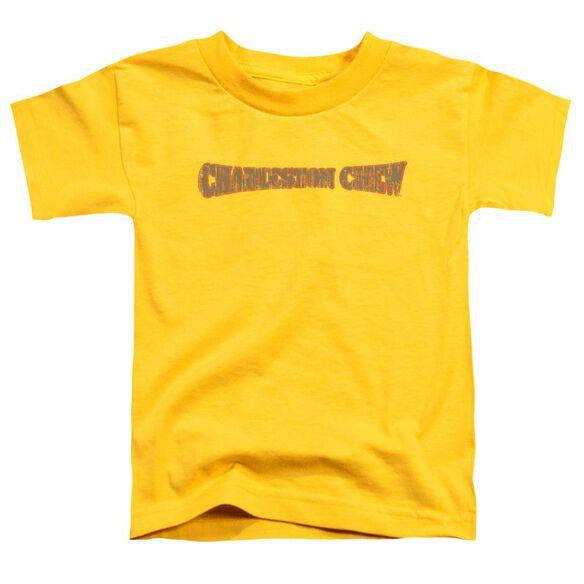 Tootsie Roll Charleston Chew Logo Short Sleeve Toddler Tee Yellow Lg T-Shirt