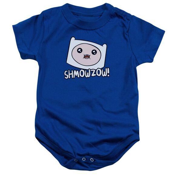 Adventure Time Shmowzow Infant Snapsuit Royal Blue