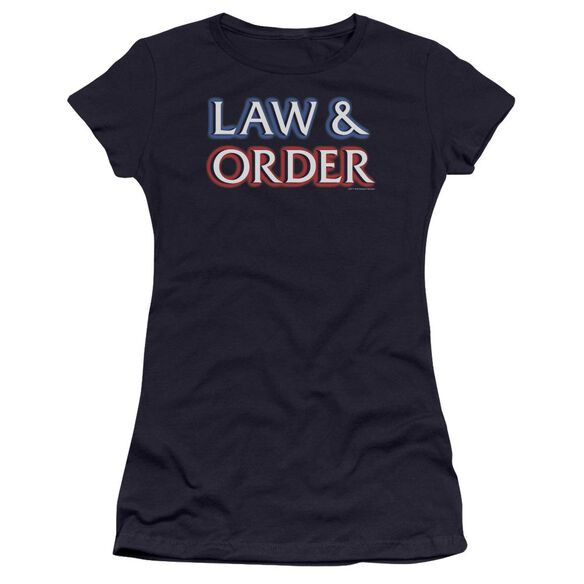 Law And Order Logo Premium Bella Junior Sheer Jersey