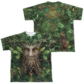Anne Stokes Oak King (Front Back Print) Short Sleeve Youth Poly Crew T-Shirt