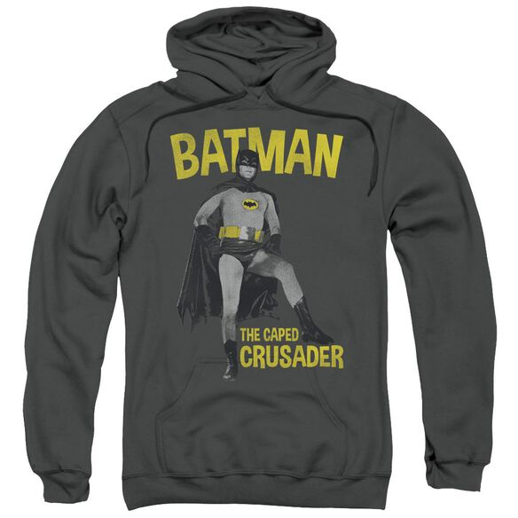 Batman Classic Tv Caped Crusader Adult Pull Over Hoodie