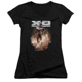 Xo Manowar Lightning Sword Junior V Neck T-Shirt