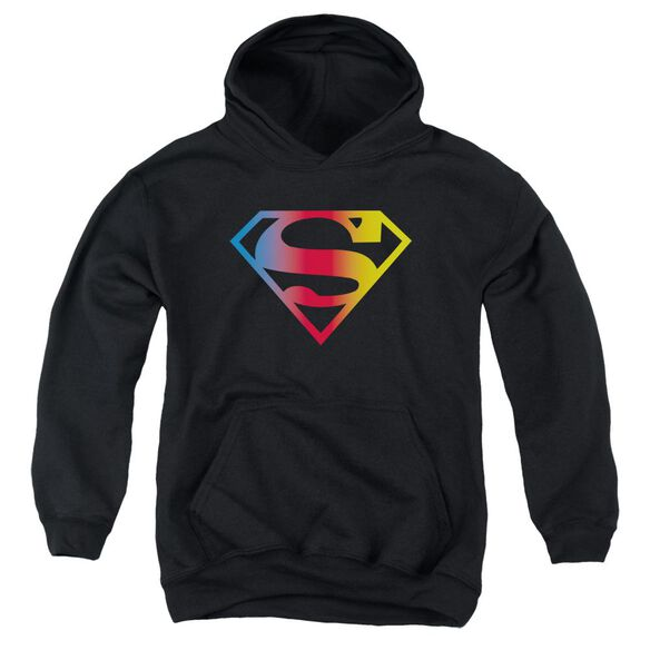 Superman Gradient Superman Logo Youth Pull Over Hoodie