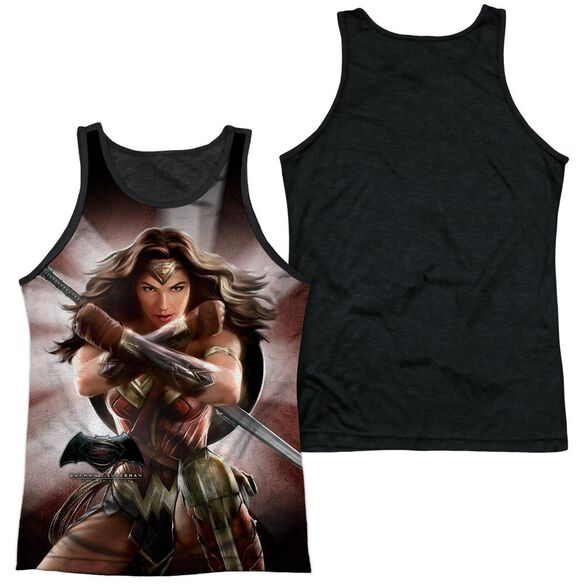 Batman V Superman Wonder Woman Light Adult Poly Tank Top Black Back