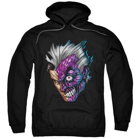 Batman Just Face Adult Pull Over Hoodie Black