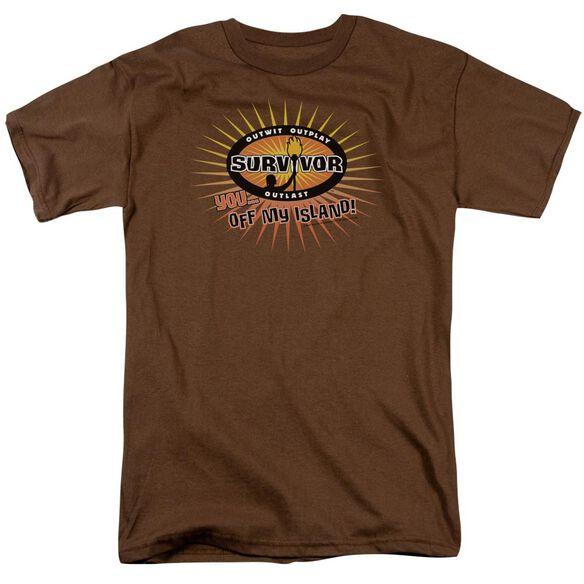 Survivor Off My Island Short Sleeve Adult Coffee T-Shirt