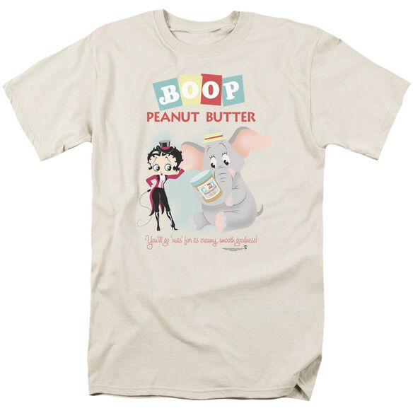 Betty Boop Boop Peanut Butter Short Sleeve Adult Cream T-Shirt