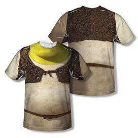 Shrek Costume (Front Back Print) Short Sleeve Adult Poly Crew T-Shirt