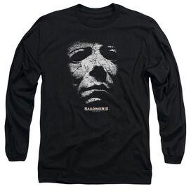 HALLOWEEN II MASK - L/S ADULT 18/1 - BLACK T-Shirt