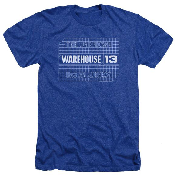 Warehouse 13 Blueprint Logo Adult Heather Royal