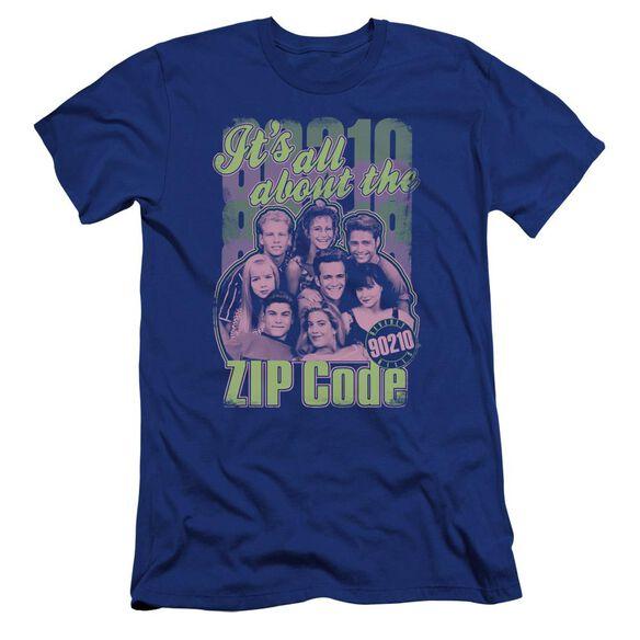 90210 Zip Code-premuim Canvas Adult Slim Fit