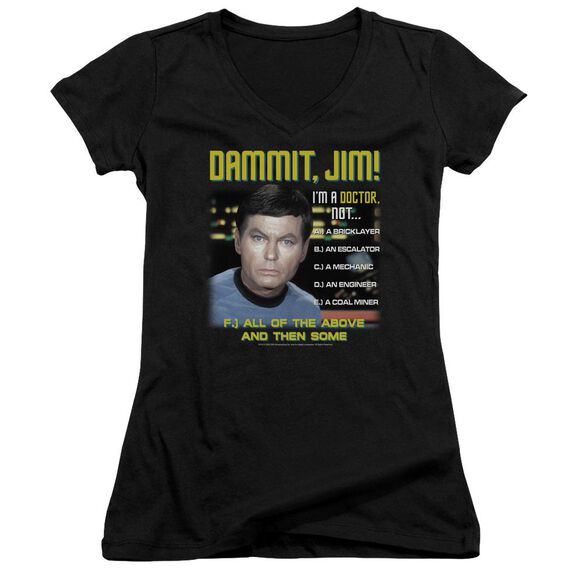 Star Trek All Of The Above Junior V Neck T-Shirt