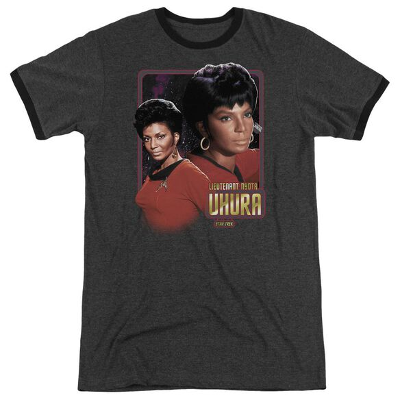 Star Trek Lieutenant Uhura Adult Heather Ringer Charcoal