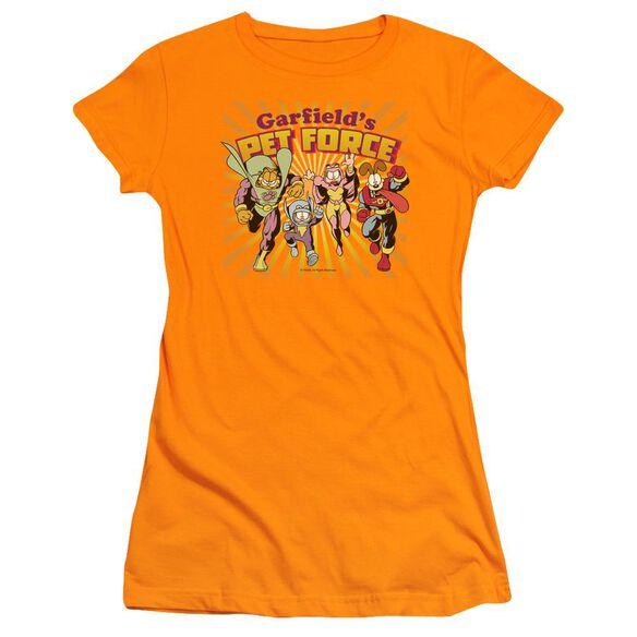 Garfield Pet Force Burst Short Sleeve Junior Sheer T-Shirt