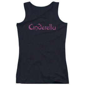 Cinderella Logo Rough Juniors Tank Top