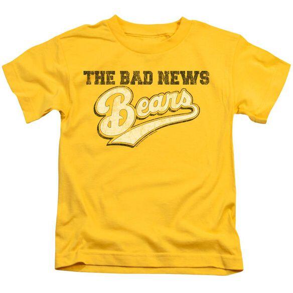 Bad News Bears Logo Short Sleeve Juvenile Yellow T-Shirt