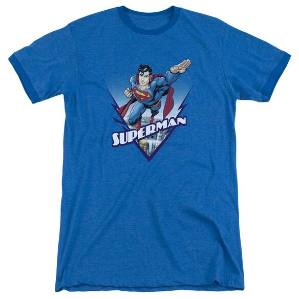 Superman Looks Like A Job For Adult Heather Ringer Royal Blue