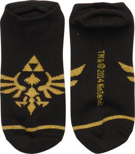 Zelda Skyward Crest Black Low Cut Socks