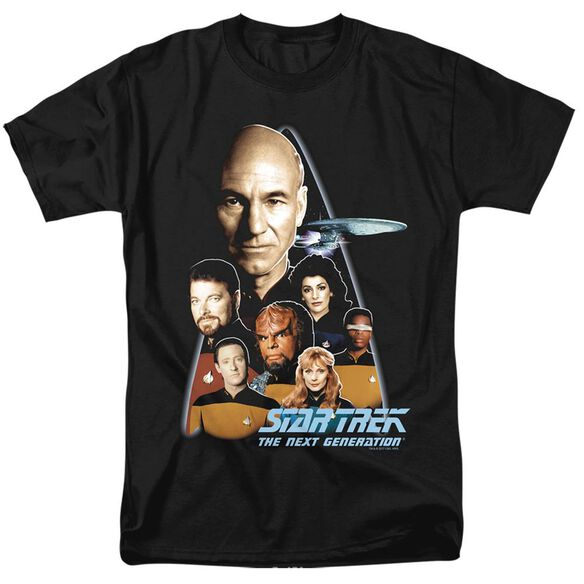 STAR TREK THE NEXT GENERATION - S/S ADULT 18/1 - BLACK T-Shirt