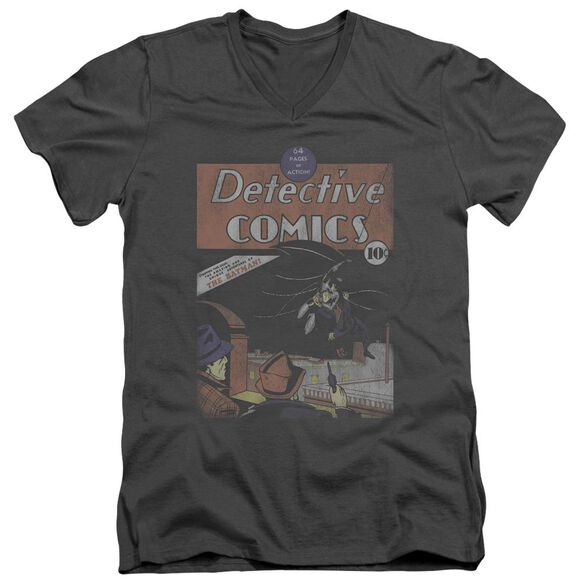 Dc Detective #27 Distressed Short Sleeve Adult V Neck T-Shirt