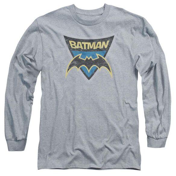 Batman Bb Batman Shield Long Sleeve Adult Athletic T-Shirt