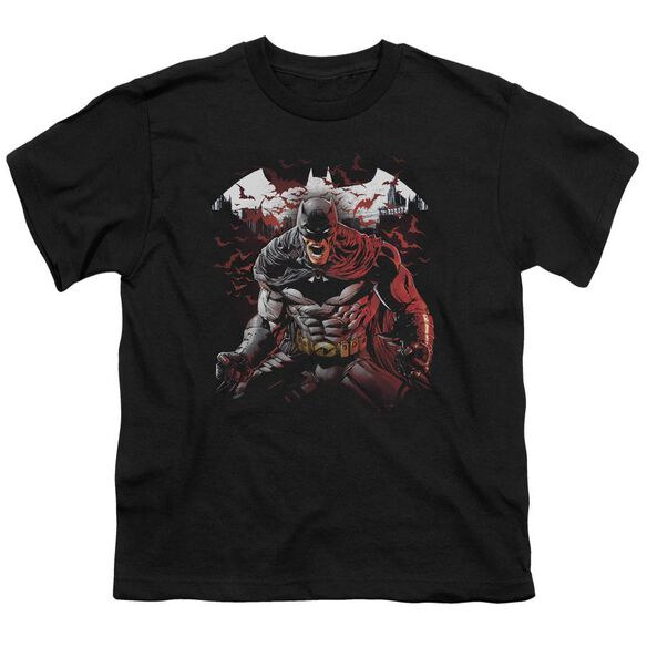 Batman Raging Bat Short Sleeve Youth T-Shirt