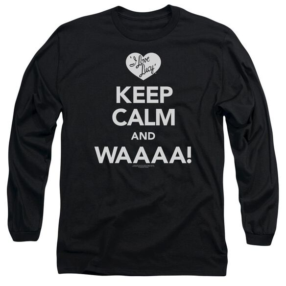 I Love Lucy Keep Calm Waaa Long Sleeve Adult T-Shirt