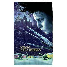 Edward Scissorhands Movie Poster Towel