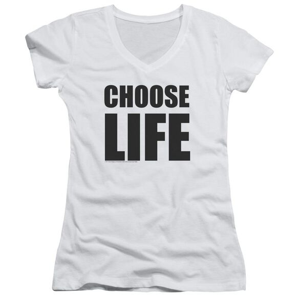 Wham Choose Life Junior V Neck T-Shirt