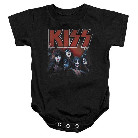 Kiss Kings Infant Snapsuit Black