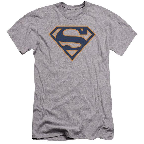 Superman Navy & Orange Shield Premuim Canvas Adult Slim Fit Athletic