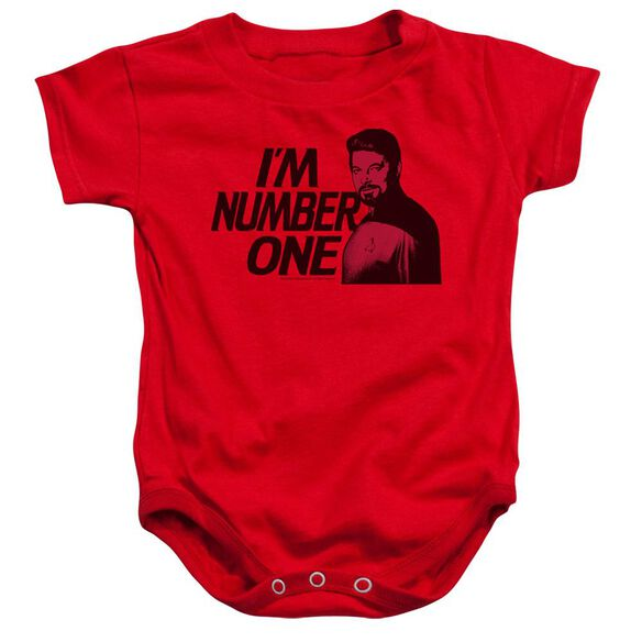 Star Trek Im Number One Infant Snapsuit Red