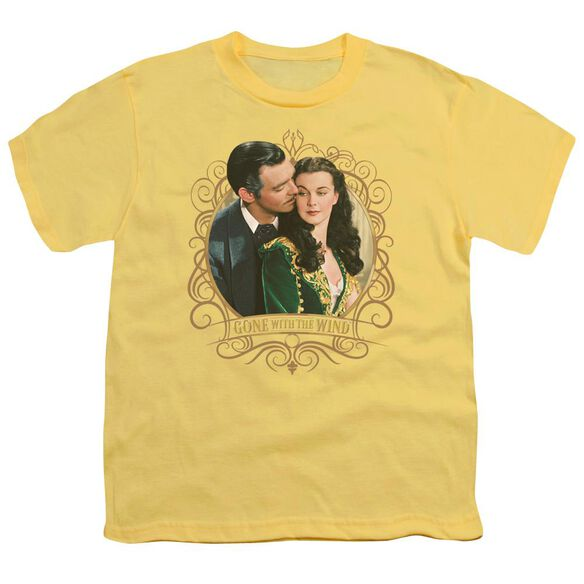 Gone With The Wind Gone Scrolling Short Sleeve Youth T-Shirt