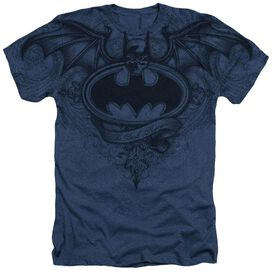 Batman Sublimated Winged Logo Adult Heather