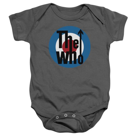 The Who Logo Infant Snapsuit Charcoal