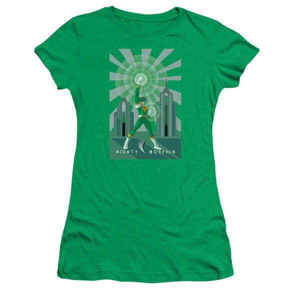 Power Rangers Ranger Deco Short Sleeve Junior Sheer Kelly T-Shirt