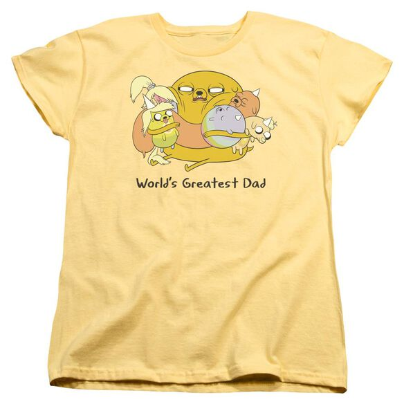 Adventure Time Worlds Greatest Dad Short Sleeve Womens Tee T-Shirt