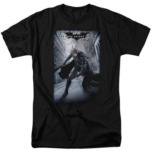 Dark Knight Rises Crumbled Poster Short Sleeve Adult T-Shirt