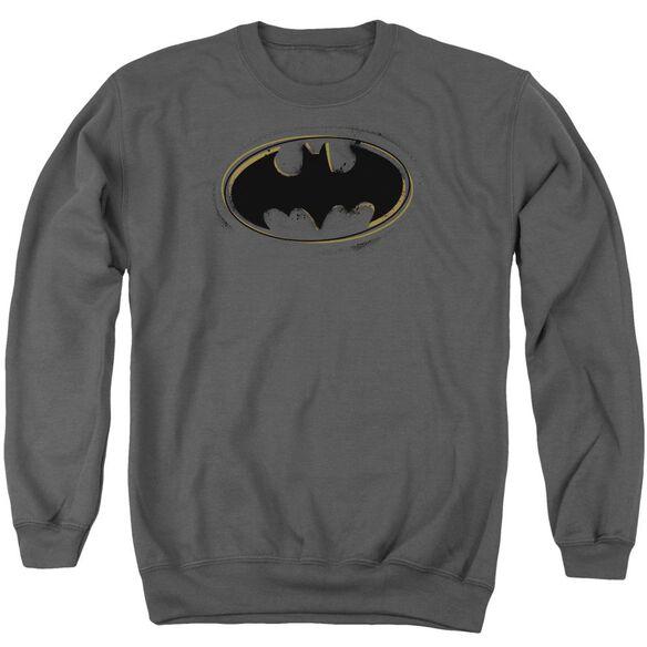 Batman Spray Paint Logo Adult Crewneck Sweatshirt