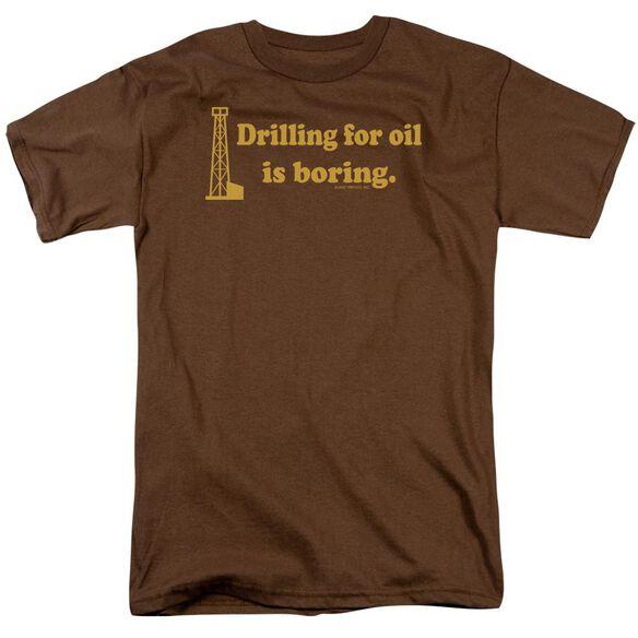 Boring Short Sleeve Adult Coffee T-Shirt