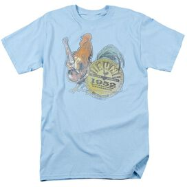 Sun Rockin Rooster Short Sleeve Adult Light Blue T-Shirt