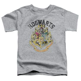 Harry Potter Hogwarts Crest Short Sleeve Toddler Tee Athletic Heather T-Shirt