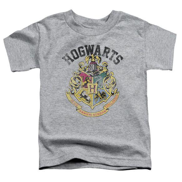 Harry Potter Hogwarts Crest Short Sleeve Toddler Tee Athletic Heather T-Shirt