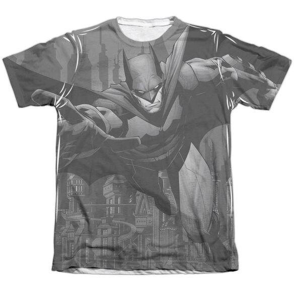 Batman Grey Race Adult Poly Cotton Short Sleeve Tee T-Shirt