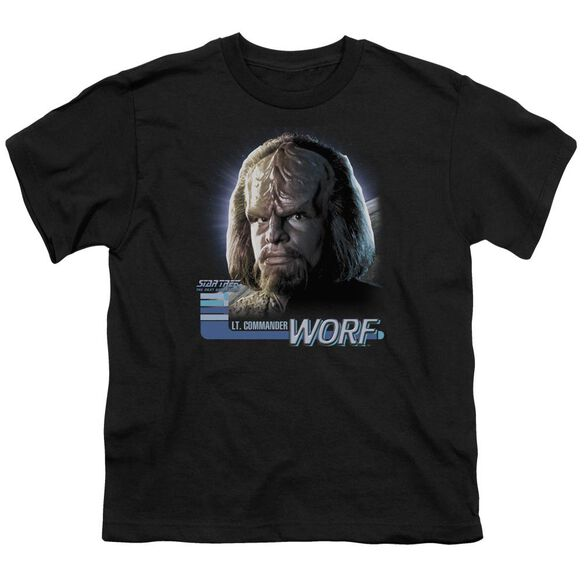 Star Trek Tng Worf Short Sleeve Youth T-Shirt