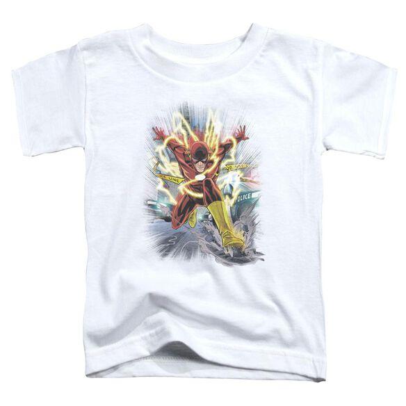 Jla Brightest Day Flash Short Sleeve Toddler Tee White Sm T-Shirt