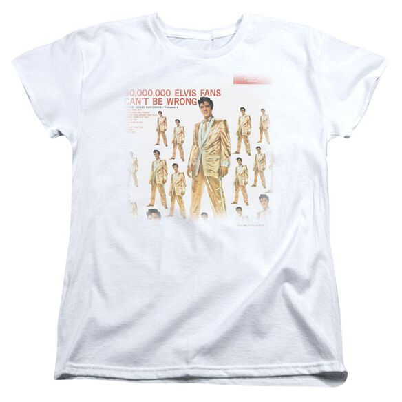 Elvis 50 Million Fans Short Sleeve Women's Tee T-Shirt