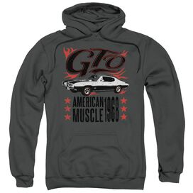 Pontiac Gto Flames Adult Pull Over Hoodie